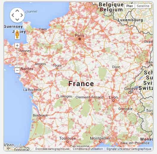Mappa Copertura Free Mobile 2015