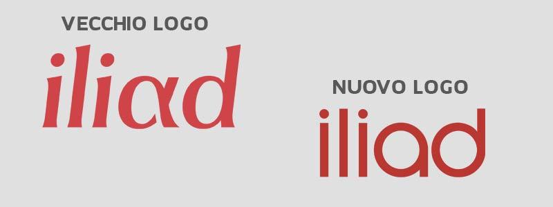 Logo di Iliad vecchio e nuovo