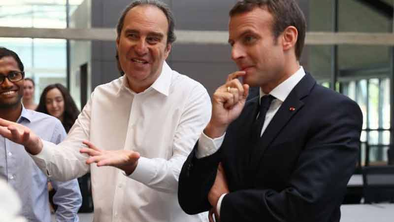 Xavier Niel e Emmanuelle Macron