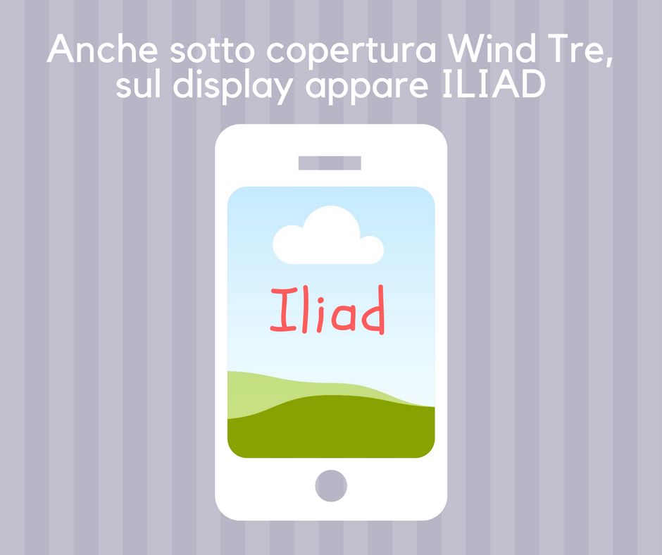Rete Iliad sul display del telefonino