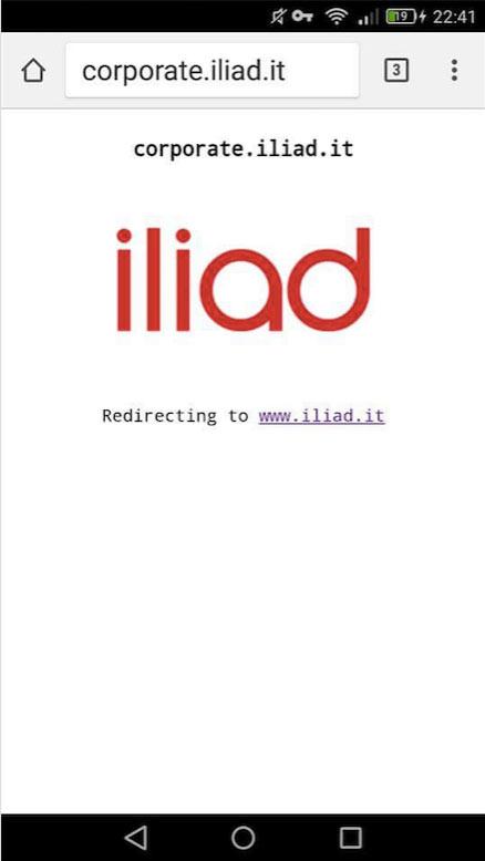 """Corporate Iliad. Il sito web """"aziendale"""" di Iliad Italia"""