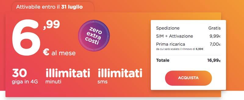 Prezzi Ho Mobile