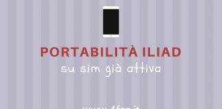 Portabilità Iliad su sim attiva