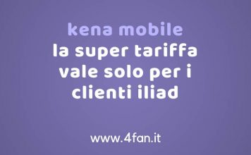 Kena Mobile nuova offerta 4G