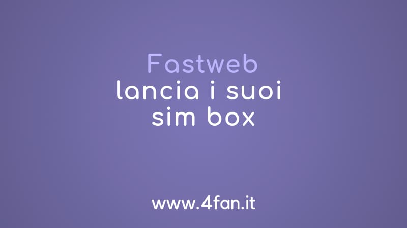 Simbox Fastweb