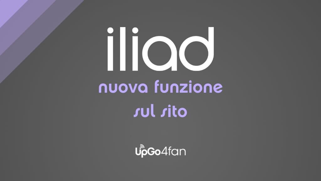 Nuova funzione sul sito Iliad