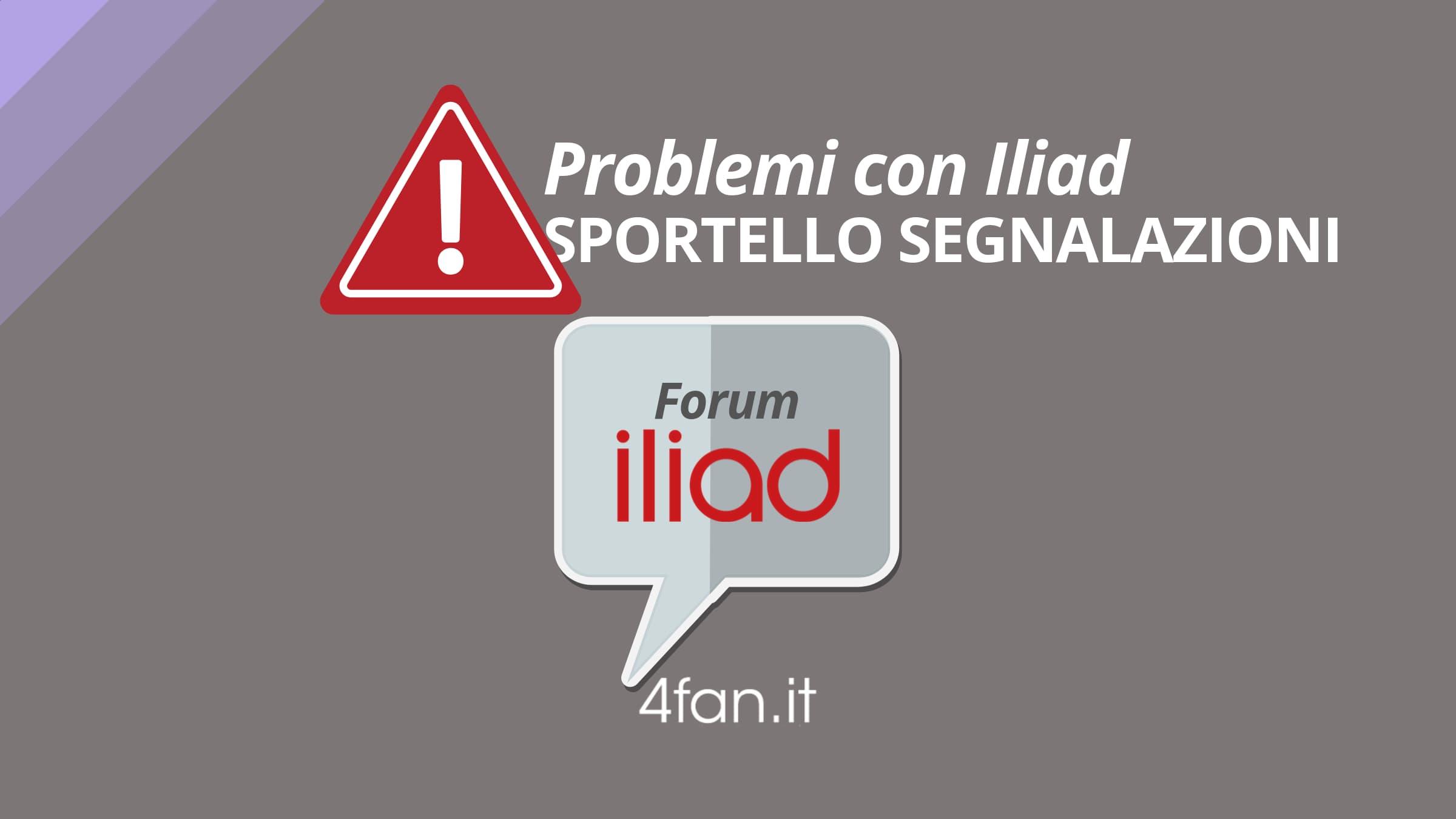 Problemi con Iliad