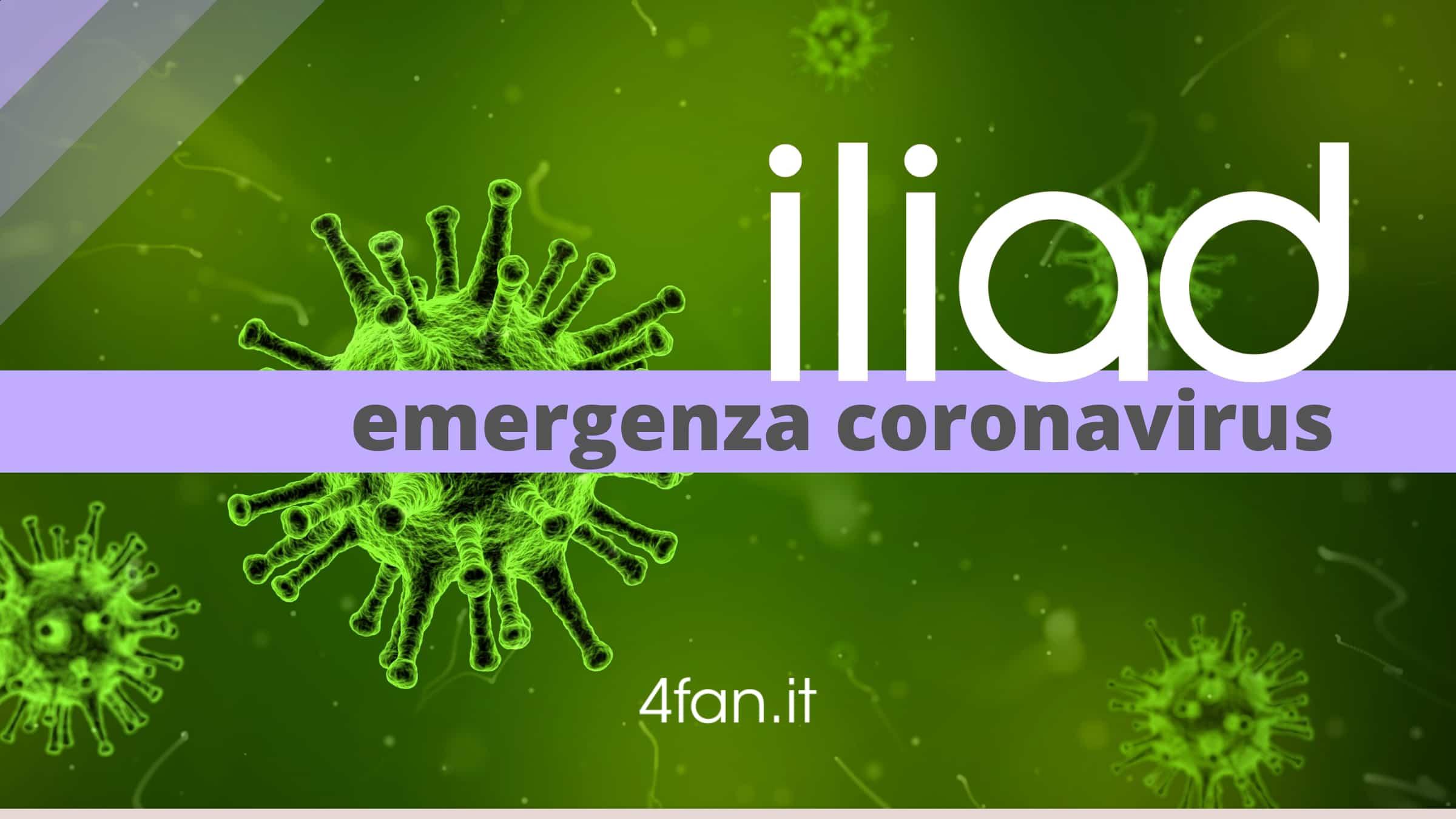 Iliad emergenza coronavirus