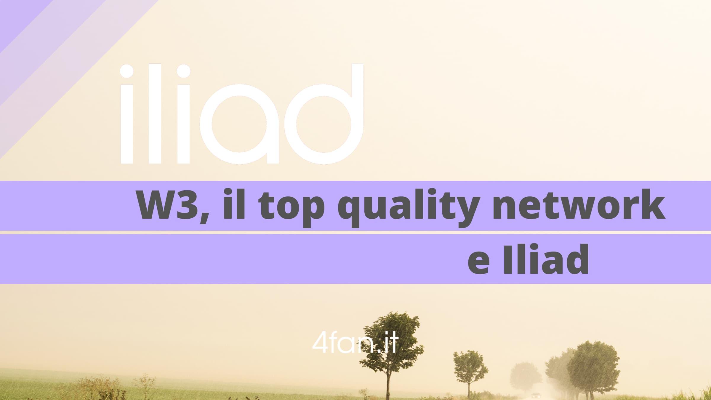 Iliad W3 Top Quality Network