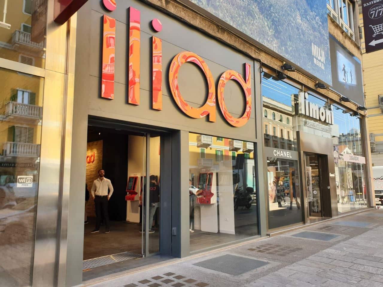 negozio di Iliad. Foto