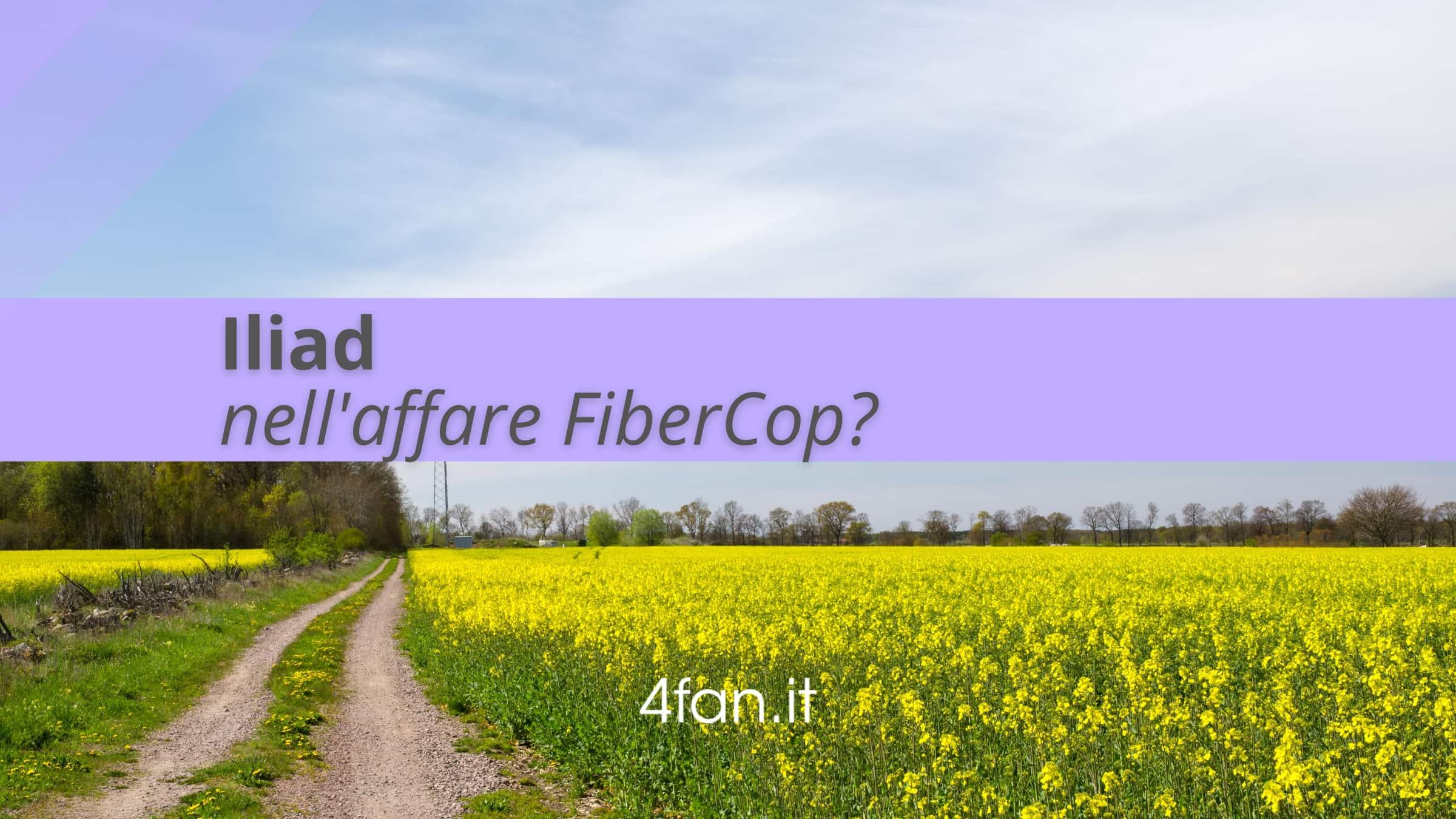 Iliad nell'affare FiberCop