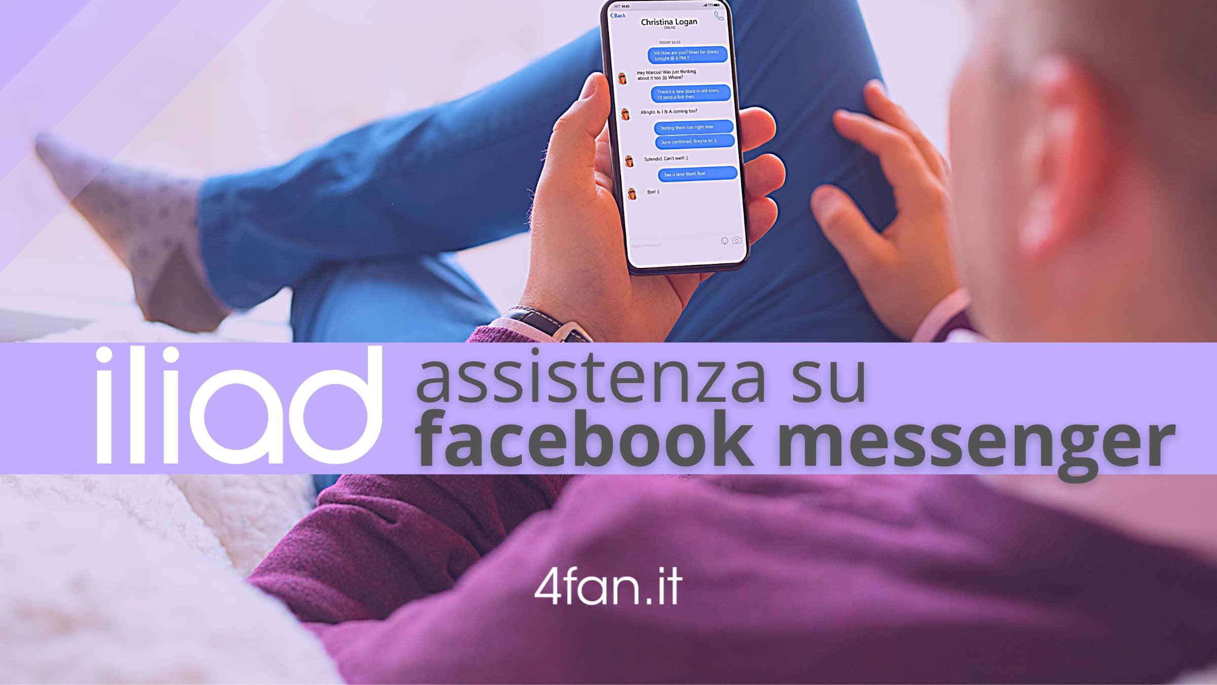 Iliad assistenza Facebook Messenger