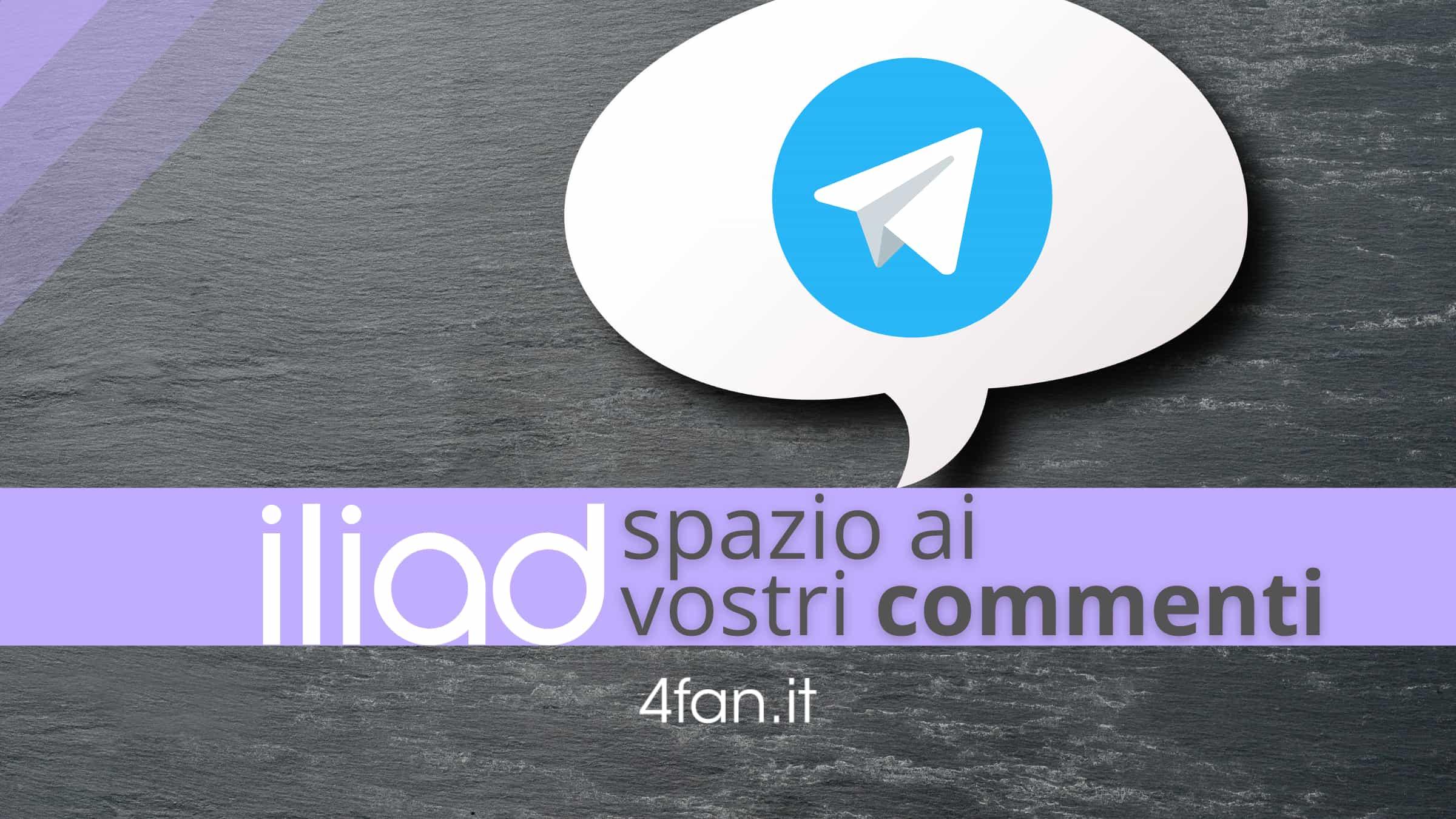Iliad commenti su Telegram