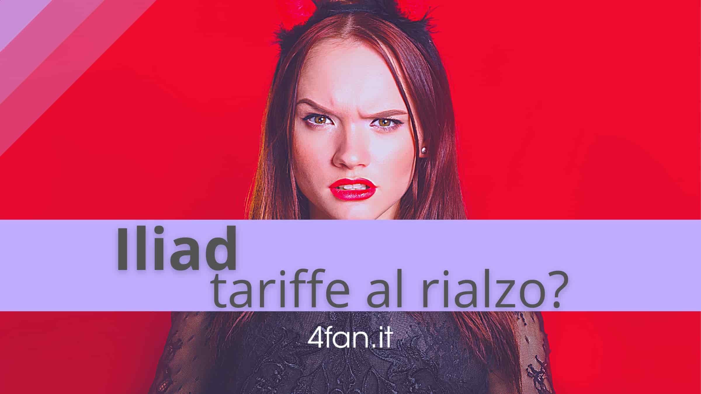 Iliad tariffe al rialzo
