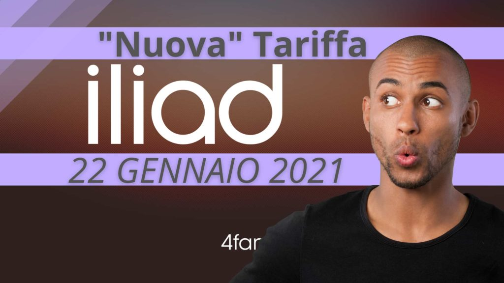 Nuova Tariffa Iliad oggi 22 gennaio 2021
