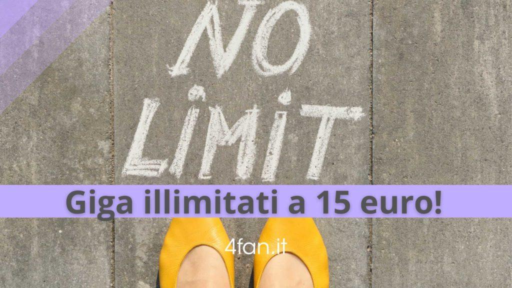 Giga illimitati a 15 euro