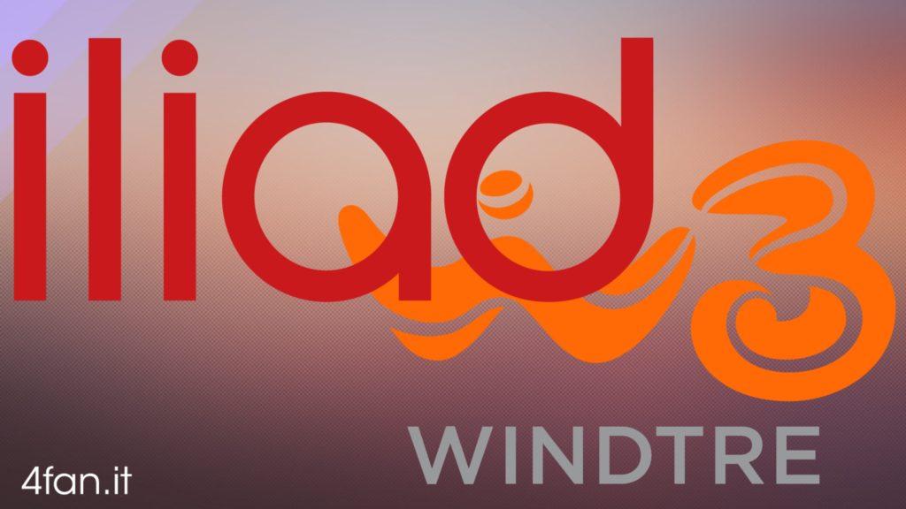 Loghi di Iliad e WindTre