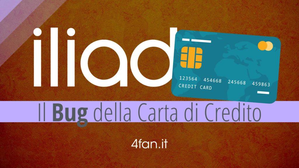 Iliad bug carta di credito