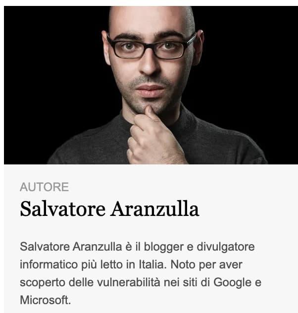 Salvatore Aranzulla, foto e breve bio