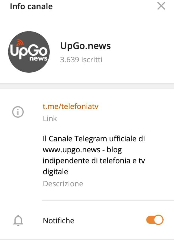 UpGo.news su Telegram