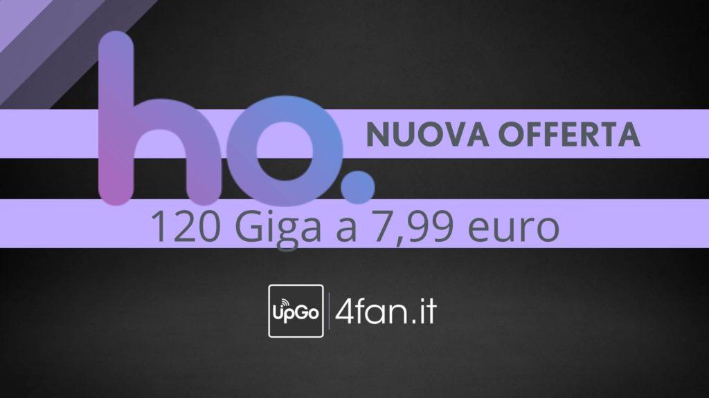 Ho Mobile 120 giga a 7,99 euro
